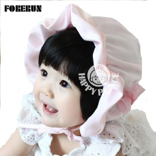 2016 New Baby Hat Flower Satin Kids Bucket Hats Soft Limit Silk Baby Sun Hat Summer Spring Palace Caps Girls Visors for Princess