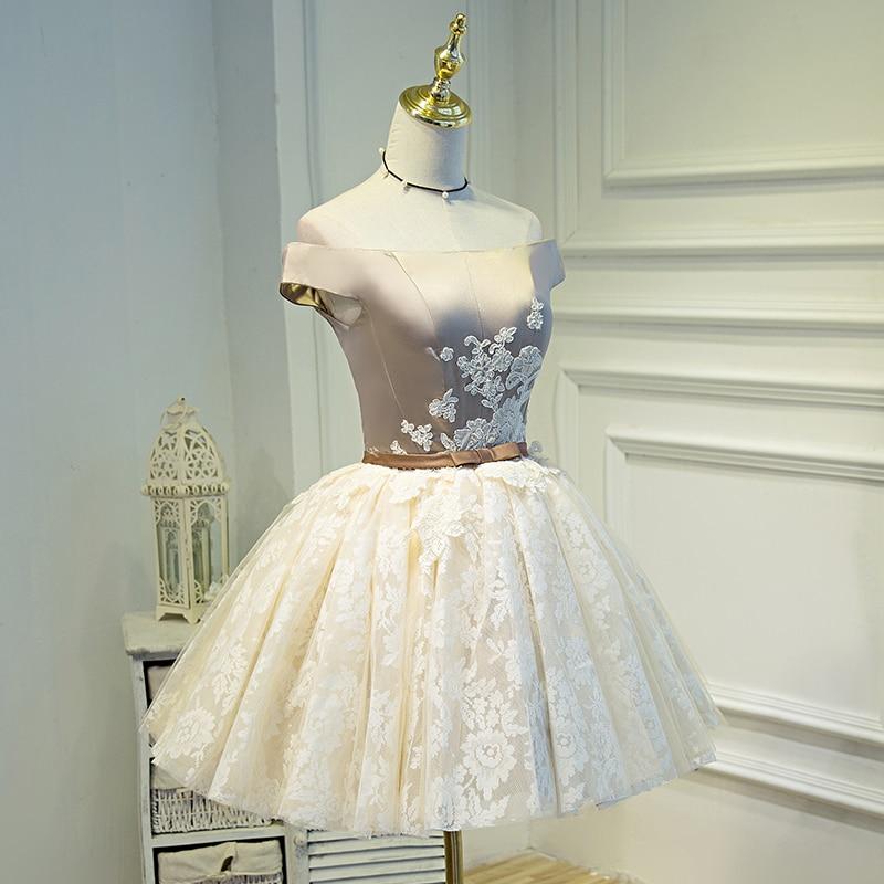 8f9fa9242 Champagne cortos vestidos de baile 2018 vestidos de festa noche vestido 15  anos envío libre en Vestidos de La ropa de las mujeres en AliExpress.com ...