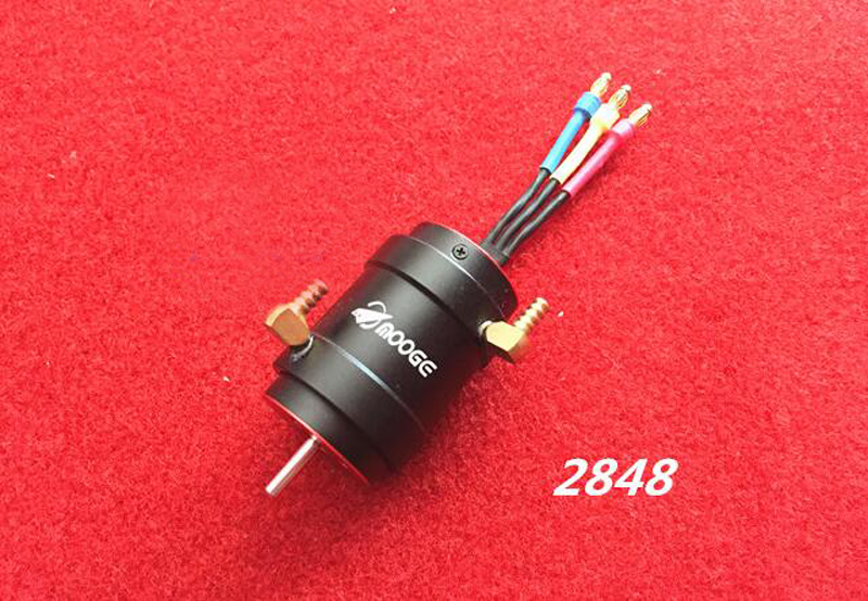 RC Boat 2848 Brushless Motor with Water Cooling Jacket for 40-60cm RC Racing O Yacht Boat Cat Catamaran 3650 3660 aluminum water cooling jacket for boat marine motor rc boat parts