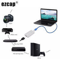 Ezcap 287P 1080P 60fps Full HD Video Recorder HDMI to USB 3.0 Video Capture Card Device For Winodws Mac Linux PC Live Streaming