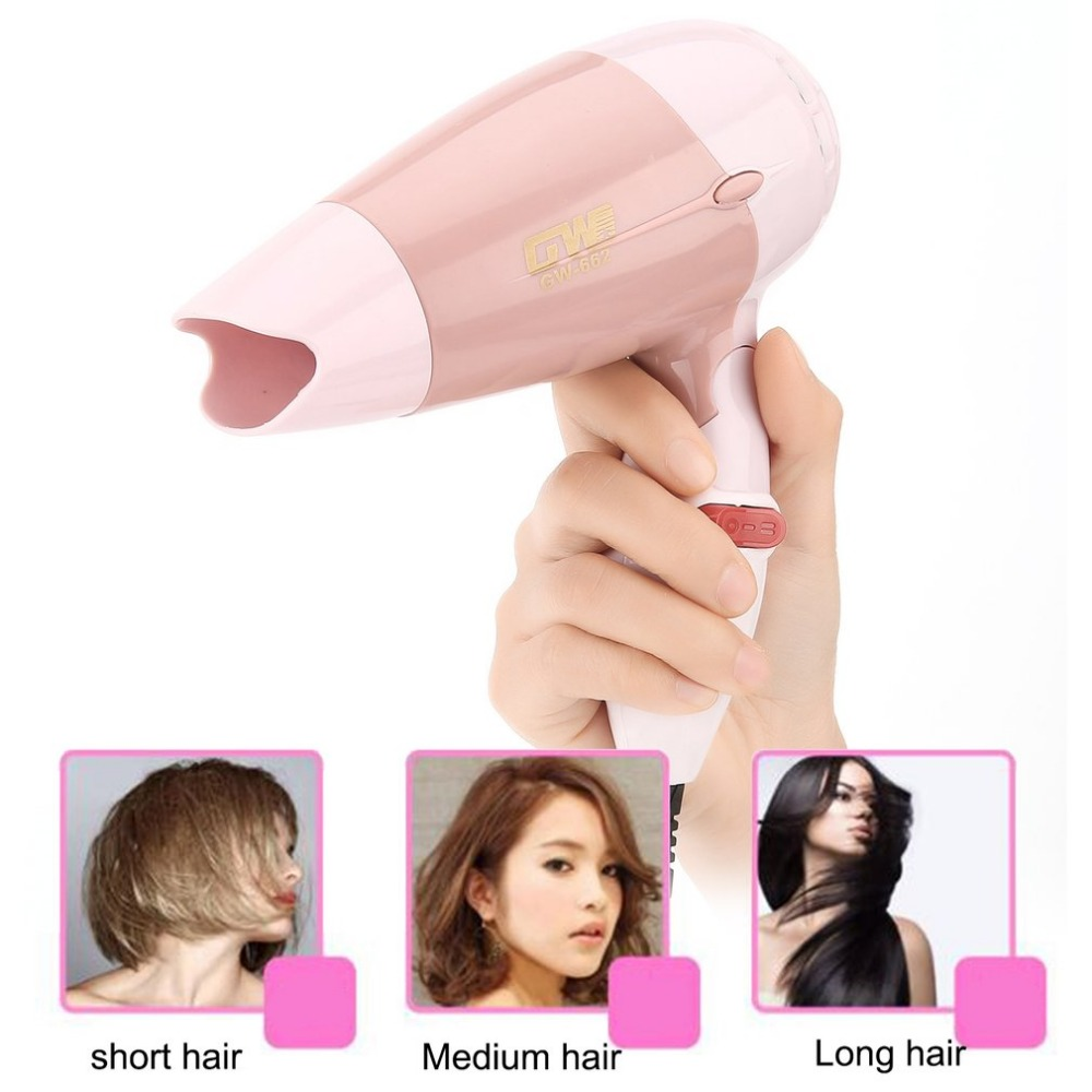 Mini Hair Dryer 1000W Hot Wind Low Noise Foldable Electric Hair Blower Hair Salon Styling Tools for Travel Home Use GW-662Mini Hair Dryer 1000W Hot Wind Low Noise Foldable Electric Hair Blower Hair Salon Styling Tools for Travel Home Use GW-662