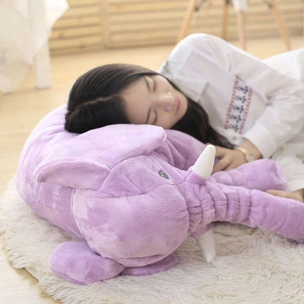 Large Plush Elephant Doll Toy Kids Sleeping Back Cushion Cute Doll Xmas Gift