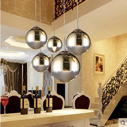 creativo bola cristal restaurante bar escalera minimalista moderno araa de plata orochina