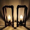 Креативная железная водопроводная декоративная настольная лампа E27  индивидуальная винтажная промышленная ветровая настольная лампа для ...