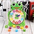 Деревянные Обучающие часы познание сопряжение игрушка Детские часы строительные блоки детские Монтессори цифровые часы обучающая помощь