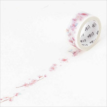 20mm*5m Pink cherry blossoms washi Tape DIY decoration scrapbooking planner masking tape adhesive tape label sticker stationery 2 5 4 5cm 5m anime alice card washi tape diy decorative scrapbooking planner masking tape adhesive tape label sticker