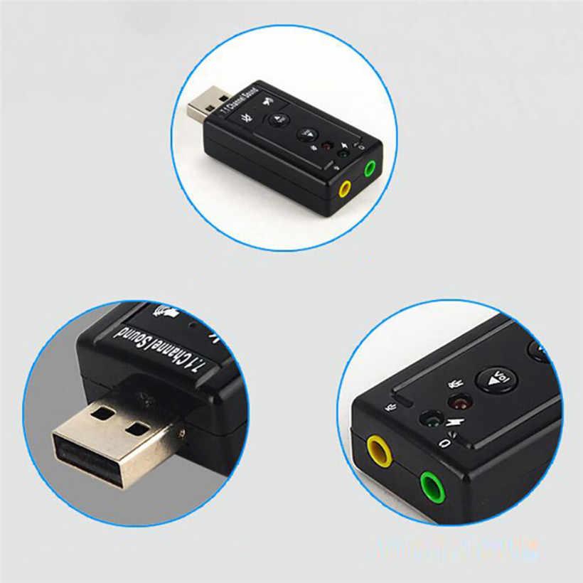 Audio USB 7.1 Canali Esterna 3D Sound Adattatore PC Notebook Kartu Adaptor Bluetooth Musik Receiver