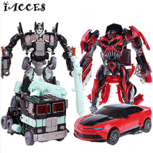 Cool Plastic ABS Alloy Action Figure Toys Classic Movie 4 Series Deformation Robot Car Cool Juguetes