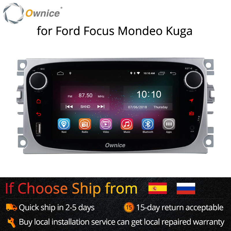 Ownice K1 K2 Android Voiture lecteur dvd 2 Din radio gps Navi pour Ford Focus Mondeo Kuga C-MAX S-MAX Galaxy Audio autoradio stéréo