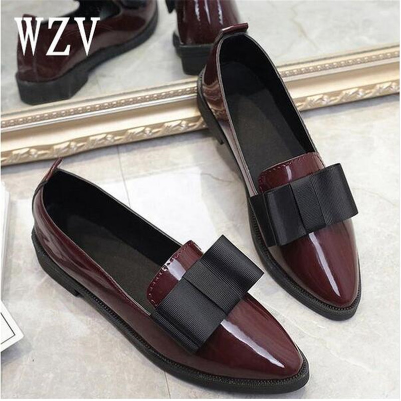 2018 Classic Brand Shoes Women Casual Pointed Toe Black Oxford Shoes for Women Flats Comfortable Slip on Women Shoes E0772018 Classic Brand Shoes Women Casual Pointed Toe Black Oxford Shoes for Women Flats Comfortable Slip on Women Shoes E077