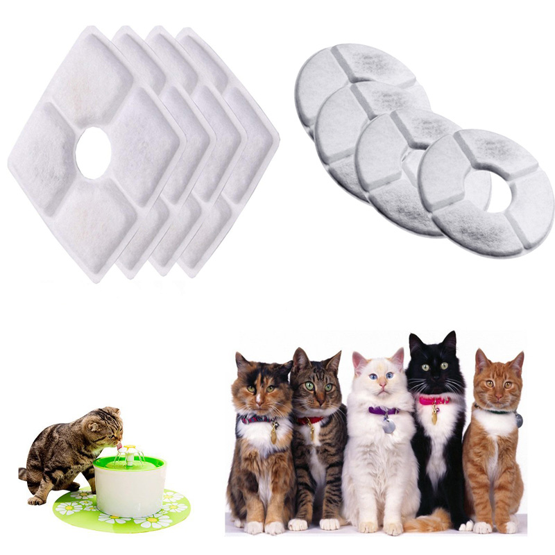 1/4PCS Pet Dog Cat Drinking Water Filter Activated Carbon Filters Replacement for Flower Waterfall Supplies