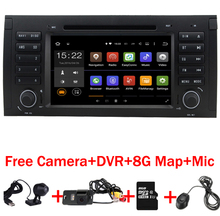 En Stock Android 7.1 Del Coche DVD GPS para BMW E39 E53 android X5 Wifi 3G Quad 1024X600 Bluetooth Radio RDS USB SD Cámara + DVR