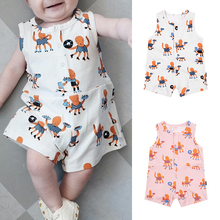 TinyPeople 2019 baby onesies summer sleeveless cotton fabrics vests roupa bebe dress boys girls romper cute newborn clothes
