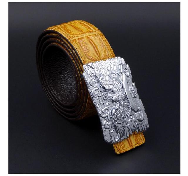 Hombres cinturón de cuero de estilo de negocios de moda casual 2017 nueva Águila De Oro caliente de la venta