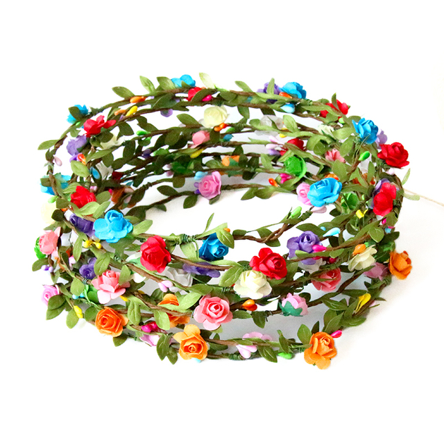 US $15.81 |rattan garland decoration birthday wedding festive & party  supplies colors cake decorating supplies flower wreath garland -in Cake ...