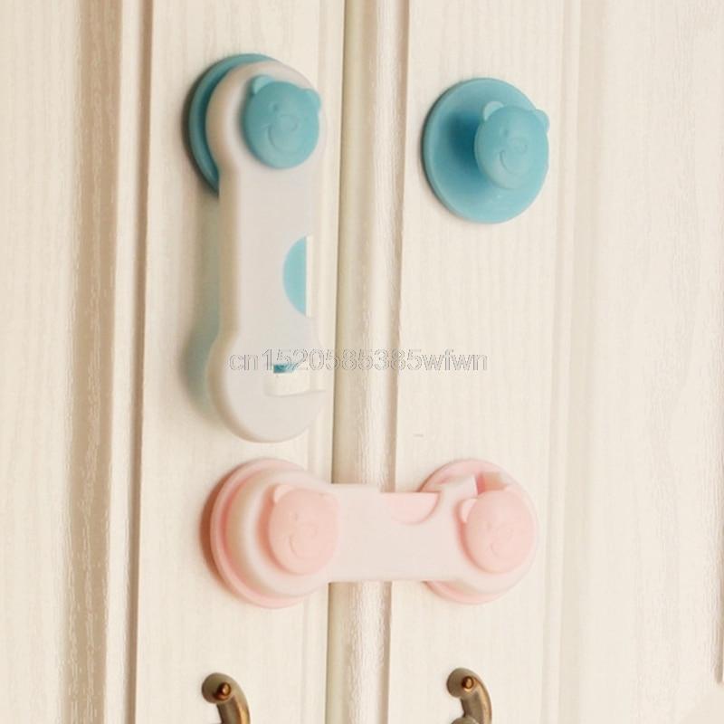 4Pcs Children Drawer Cupboard Refrigerator Door Desk Plastic Protection Locking Baby Kids Straps Safety Cabinet Locks Drop Ship