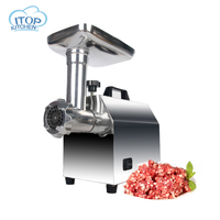 ITOP Electric Meat Grinder Sausage Filler with Plastic Outlet Vegetable Chopper Electric Automatic Mincing Machine Household
