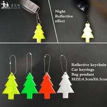 Брелок в виде рождественской елки мягкий ПВХ отражающий Кулон Шарм сумка аксессуары брелоки для безопасности дорожного движения использования