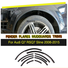 Rueda de LA PU Arco Coche Ceja Rueda Arch Párpados Fender Flares Tira Para Audi Q7 RSQ7 Sline 2006-2015
