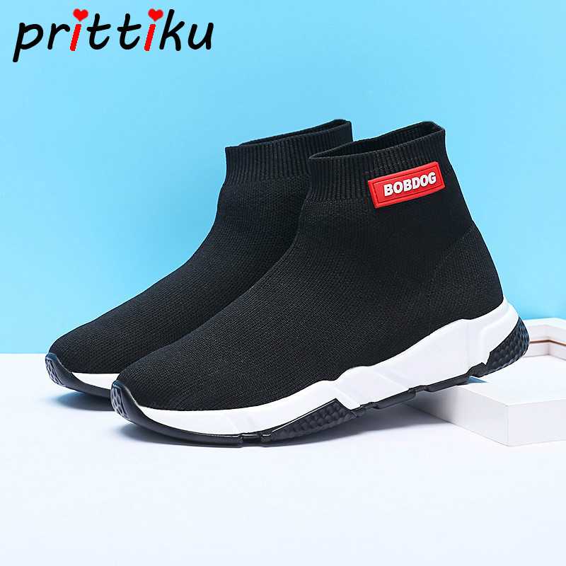 Spring 2018 Toddler Boy Girl Slip On Fashion Sneakers Little Kid Breathable Knit Socks Big Children Sport Casual School Shoes girl and boy loafers shoes sneakers slip on girls winter kid casual boys shoe black breathable children flats sporting shoes