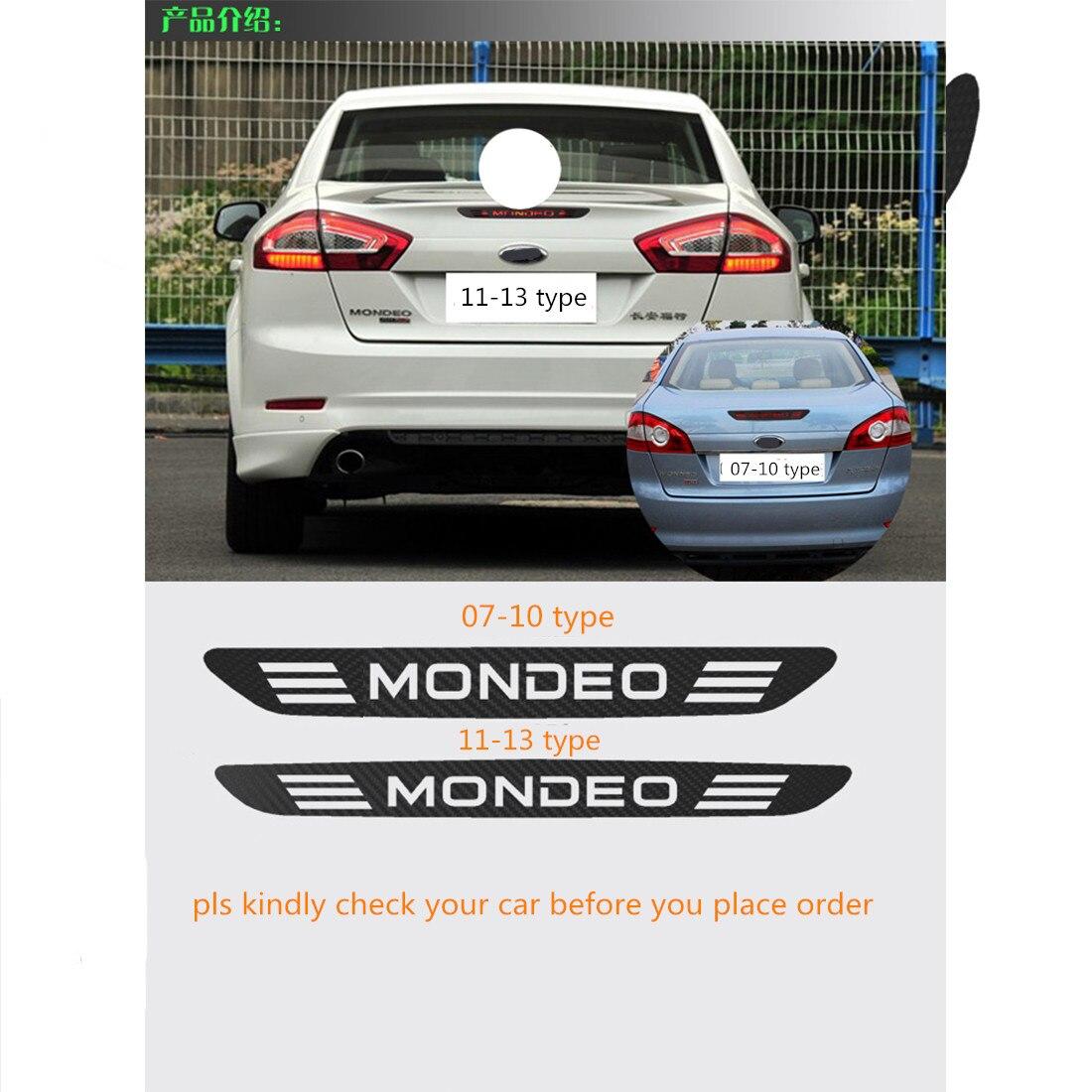 Car carbon sticker design - For Mondeo 07 10 Carbon Fiber Vinyl Rear Windshield Brake Light Decoration Sticker Brake Lights