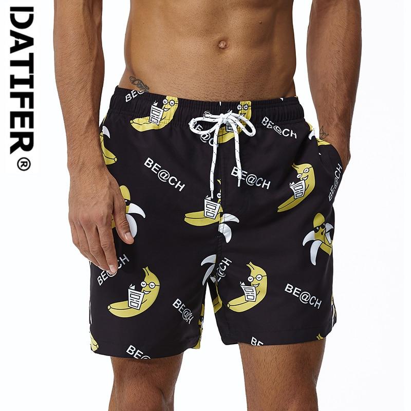 DATIFER Men's Summer Swim Shorts Quick Dry DE102V Beach Shorts Homme Bermuda Swimsuit Plus Size XXXL