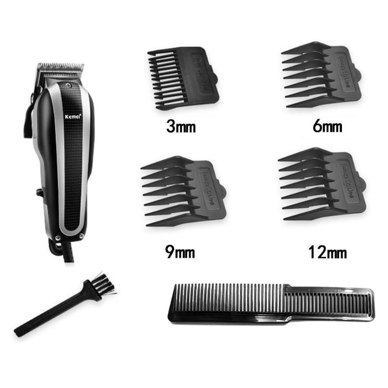 Kemei 220V Professional Hair Trimmer Men Electric Hair Clipper Rechargeable Hair Cutter Multifunction Haircut Machine top quality kemei electric clipper hair trimmer professional rechargeable hair cutter shaving cutting machine haircut men baby s