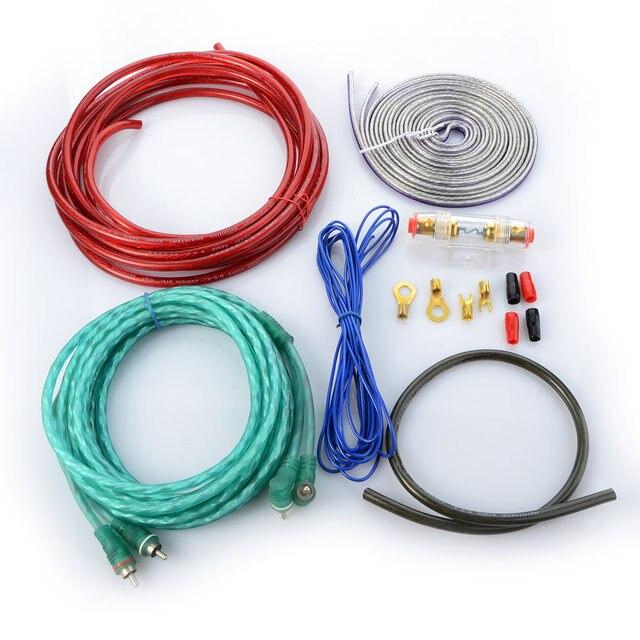 Online Shop New Car Audio Wire RCA Amplifier Subwoofer Cable Speaker ...