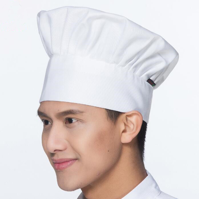 6ec489b2b612b 1PC Chef Hat Breathable Mesh Cap Professional Catering Black White Striped  Plain Hats Working Cap Black White Coffee