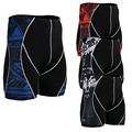Life On Track Summer Men 3D Prints Copmpression Short Tight Pants  Multi-functional Wear Trousers