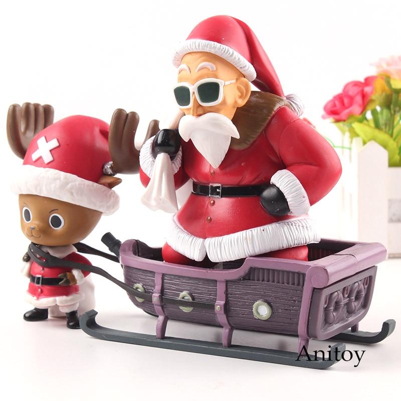 Dragon Ball KAL One Piece Anime Action Figure Tony Tony Chopper X Kame Sennin Master Roshi Christmas Ver. PVC Collection Model T