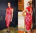 Alfombra roja Vestidos de La Celebridad Kim Kardashian Tapete de Cóctel Selena Gomez Miley Cyrus Lovato Jennifer Lopez Nina Dobrev