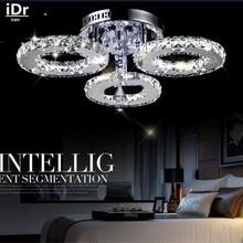 Современные Потолочные Светильники краткое гостиная светодиодные лампы светодиодные кристалл круг освещения Высококлассная атмосфера D450xH150mm С-133