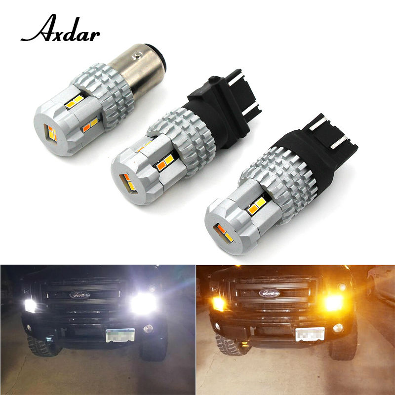 2 pcs 3020 12smd 1157 3157 7443 Switchback LED dual color Bulb Front Turn Signal Light