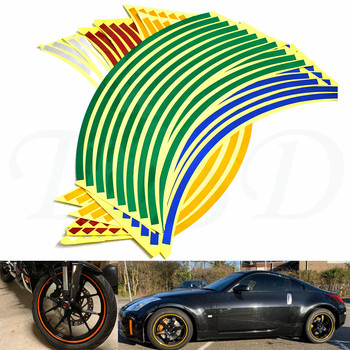 Car motorcycle Tire Rim Stickers 17-19 Reflective Car-Covers Tape Wheel Tyre Sticker Decors For DUCATI MS4/MS4R M900 M1000 image