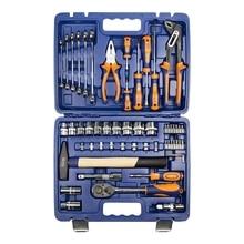 Набор ручного инструмента Helfer HF000013 (56 предметов, торцевые головоки, отвертоки , свечные головки, кейс)