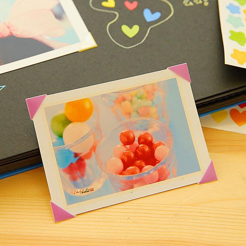 Новая горячая распродажа 1 Набор 102 шт наклейки-уголки для фото альбомов декоративные картинки угловая Защита ПВХ рамка Скрапбукинг