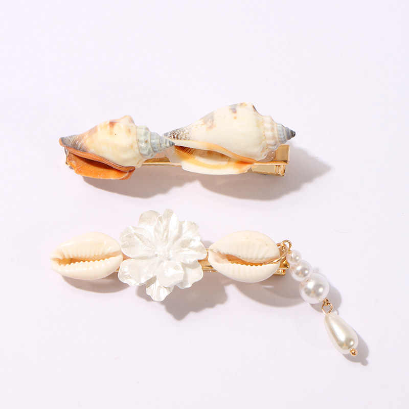 KOMi 3/5PCS/SET Hair Pins for Women Brand Design Hair Jewelry Shell Simulated Pearls Hair Clips Bobby Pin Gifts A10312