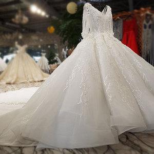 Image 5 - AIJINGYU Hochzeit Kleider China Shiny Weiß Neueste Stil Hochzeit Plus Größe Spitze Kappe Nova Kleid Brautkleid Online Verkauf