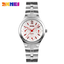 Women Watches SKMEI Women's Stainless Steel 30M Waterproof Quartz Watch Fashion Ladies Wrist Watch Relogio Feminino Montre Femme цена в Москве и Питере
