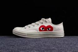 2018CONVERSE ALL STAR CDG PLAY x Converse 1970s Unisex Shoes Unisex Shoes High/Low women/men Canvas Skateboarding Shoes