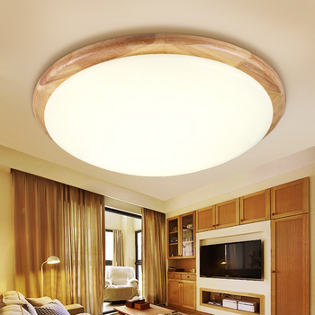 Solid Wooden bedroom lamp round wood logs Nordic Korean led style wooden ceiling lights balcony ceiling lamps