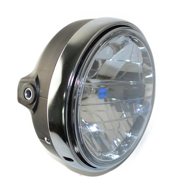 Motocicleta ronda lámpara chrome linterna del halógeno para honda cb400 cb500 cb1300 hornet250 hornet600 hornet900