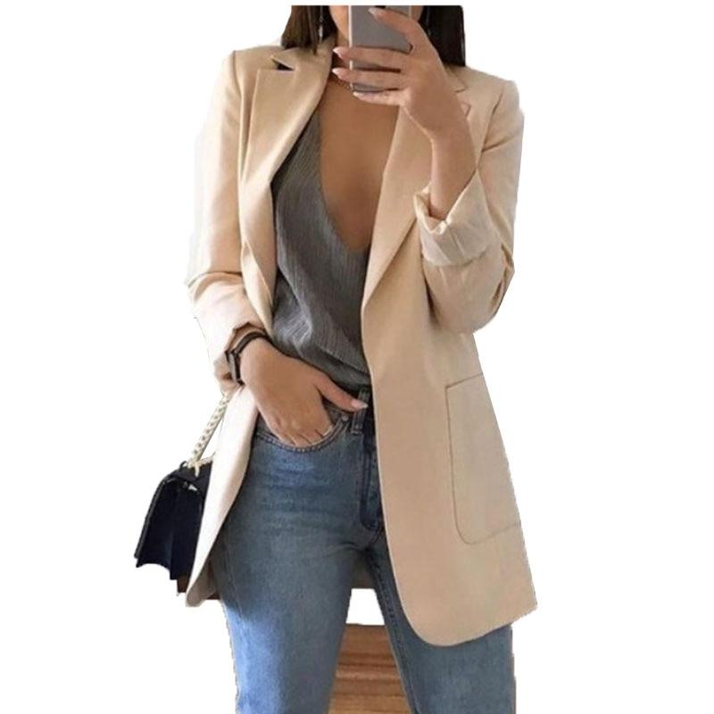 Blazer Jackets for Women Suit European Style 2019 spring fashion Work Style Suit ladies blazer Long Sleeve  Blazer Outerwear