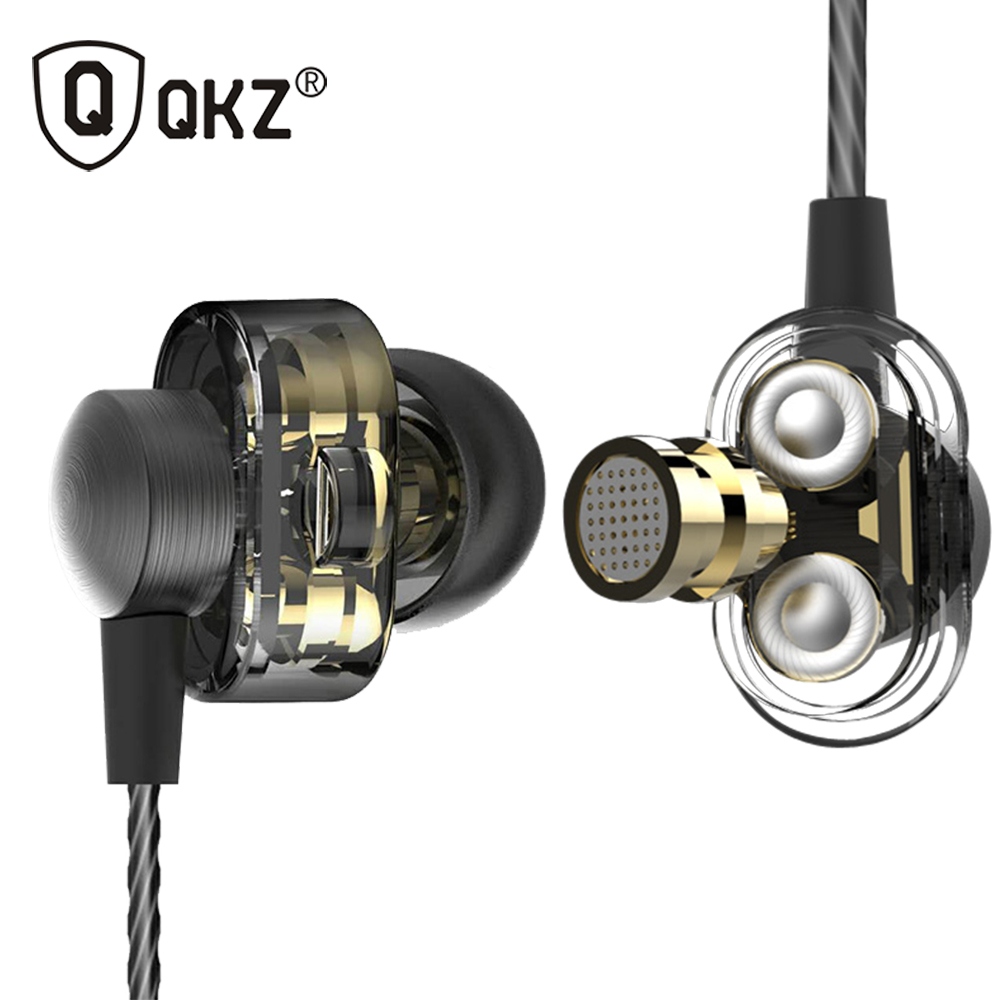 QKZ DM8 Headset Earphones Original Hybrid Dual Dynamic Driver In-Ear Earphone fone de ouvido Gaming Headset Auriculares MP3