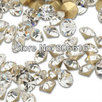 SS16 1440Pcs 4mm Nail Art Clear Crystal Culet Rhinestones Decorations Jewelry Beads