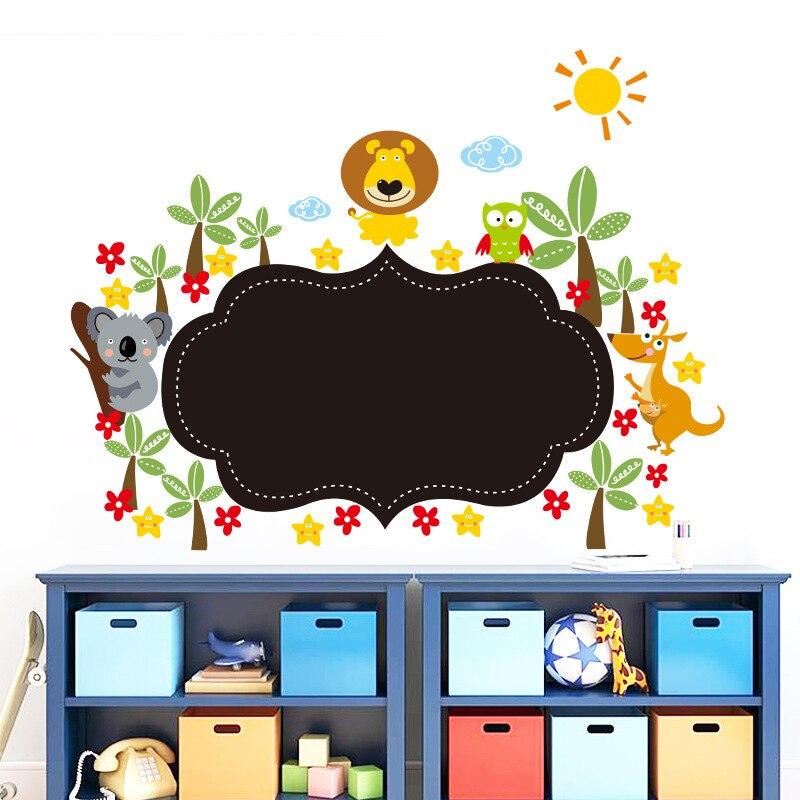 Neue Tier Tafel Subventionen Kinder Wohnzimmer Schlafzimmer Kindergarten Remoable Wandaufkleber Kann Gemalt Startseite Decals Lch