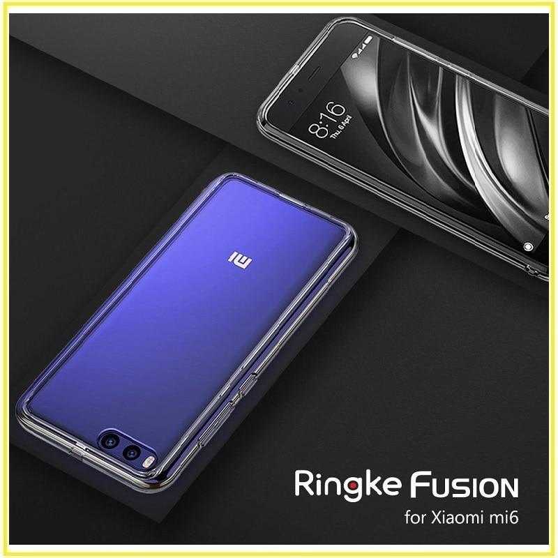imágenes para Para Xiaomi mi Caso 6 Original Ringke de FUSIÓN [] Crystal Clear PC Contraportada TPU Para El Mi6