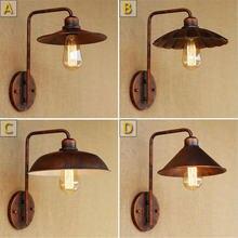 Настенный светильник в стиле ретро с абажуром деревенском Цоколь
