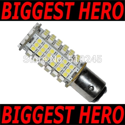 100x car led s25 bay15d p21/5W 102smd 1157 102 led smd 3528 led light bulb lamp WHITE RED YELLOW Free shipping